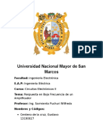 Sarmiento Labo, Baja Fecuencia