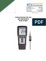 Manual Vibrometro Pce Vt204