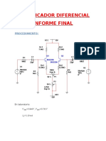 Sarmiento Amplificador Diferencial. Informe Final