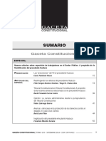 SUMARIO Gaceta Constitucional - Setiembre 105