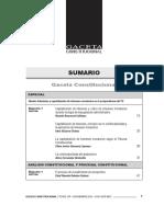 SUMARIO Gaceta Constitucional - Noviembre 107