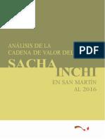 Analisis de La Cadena de Valor Del Sacha Inchi en San Martin Al 2016