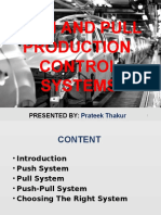 Push and Pull Production Control Systems