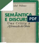1995 -Semântica e Discurso- uma crítica à afirmação do óbvio - Michel Pêcheux ( Livro).pdf