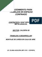 Procedimiento Para Trabajos en Espacio Confinado Hg&f