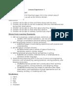 part b plans for learning segment
