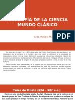 Filosofía de La Ciencia Mundo Clásico