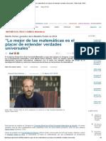 """""""Lo mejor de las matemáticas es el placer de entender verdades universales"""" _ Entrevistas _ SINC.pdf"""