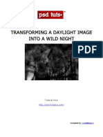 Transforming a Daylight Image Into a Wild Night