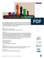 Convocatoria XX Encuentro de Ajedrez