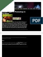 Smoke Type Photoshop 10 Steps