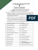 DESARROLLAR EL TRABAJO N° 02 POLITICAS PUBLICAS TARAPOTO-YURIMAGUAS