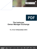 The Icehouse Owner Manager Exchange Programme Material