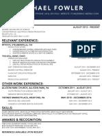 fowler resume 01182017