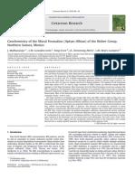 Rare Earth Element geochemistry of limestones Cretaceous Research 2010 v.31