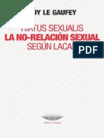 309438774 Guy Le Gaufey Hiatus Sexualis La No Relacion Sexual Segun Lacan