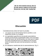 Influencia de La Microestructura de La Herramienta De