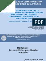 Atelier de Partage Sur l'Acte Uniforma Révisé ( Spécifictés Procédures) Bénin Royal