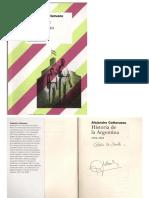 CATARUZZA, Alejandro (2009) Historia de La Argentina 1916-1955. Ed Siglo XXI