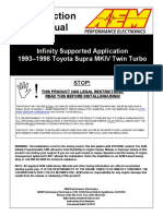 Infinity Supported Application Toyota 1993-1997 Supra Turbo