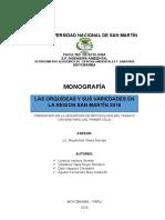 Monografia - Las Orquideas y Sus Variedades en La Region San Martin