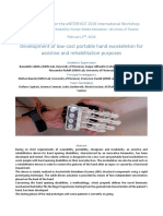 Development of Low-cost Portable Hand Exoskeleton for Assistive and Rehabilitation Purposes
