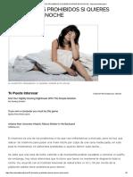 10 Alimentos Prohibidos Si Quieres Dormir Esta Noche - Barcelona Alternativa