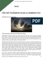 Ciri-ciri Tasawwur Islam_ Al-rabbaniyyah _ Ridzuan Al-firdhaus