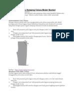 Tips Menjahit Saku Samping Celana Model