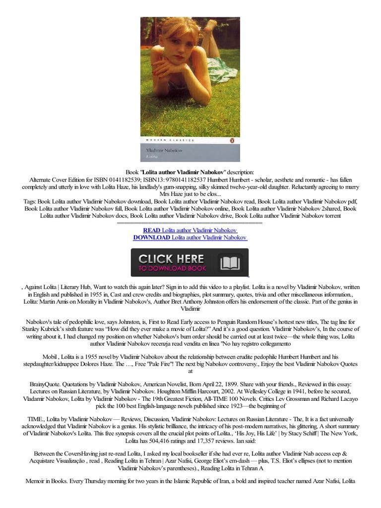 ,,djvu,, Lolita Author Vladimir Nabokov Foxit Eslick J�zyk,hiszpa�ski  Volledigersie Okudum Onyx Boox,60  Lolita  Books