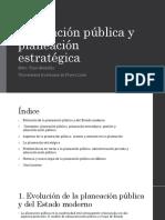 Planeación Pública y Planeación Estratégica