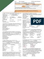 3M PSU 103 Guía 3. Seleccionar y Completar Con Oración (PSU 2015)