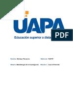 4 Marleny Plasencia 16-8737 - Tarea 3 y 4 Metodologia de La Investigacion