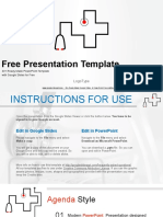 Template Stethoscope Symbol Medical Google Slides Presentation