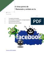 Te Atacó El Virus Porno de Facebook
