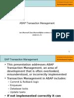 4 - Part 1 - ABAP Transaction Management