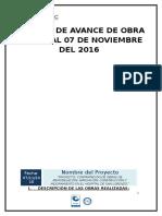 Informe de Avance de Obras HSL DEL 01 Al 07 de Noviembre