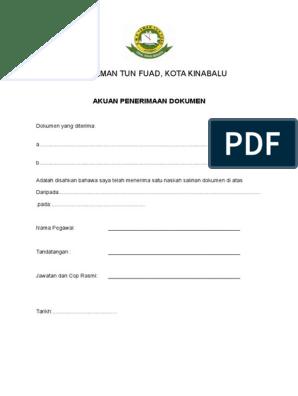 Borang Akuan Penerimaan Dokumen