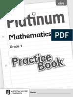 English Mathematics Grade 1 Practice Book