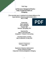 Sample Internship REPORT