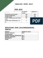 ANALISIS  UPSR  2014