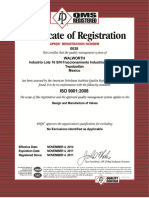 (6) Certificate ISO-0038