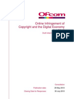 Online Infringement of Copyright and the Digital Economy Act 2010
