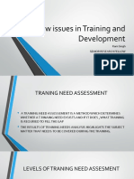 New Issues in Training and Development