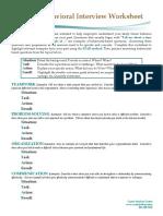 Behavioral Interview Worksheet
