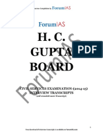 UPSC Interview 2013 2014 Transcripts H C Gupta Board