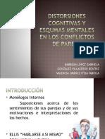 Distorciones Cognitivas y Esquemas Mentales en Los Conflictos de Pareja