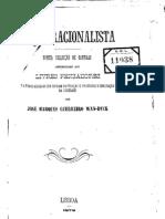 Fado Racionalista - José Marques Guerreiro Wan-Dyck