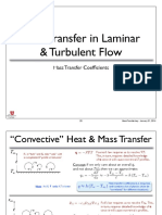 Mass Transfer in Laminar and Turbulent Flows