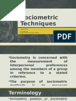 Sociometric Techniques